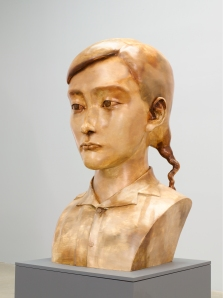 zhang-xiaogang-young-woman-gold